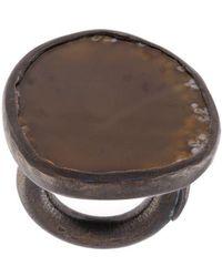Monies - Agate Black Copper Ring - Lyst