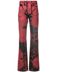 CALVIN KLEIN 205W39NYC - Painted Print Flared Jeans - Lyst