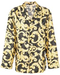 Versace - Barocco Print Pajama Shirt - Lyst
