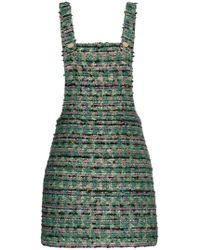 N-Duo - Tweed Mini Dress - Lyst