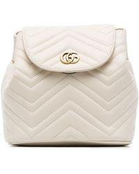 d6889660330e Gucci - White Marmont Matelassé Leather Backpack - Lyst