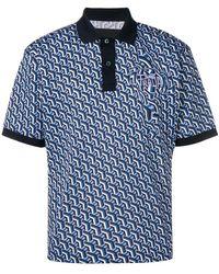 Prada - Poloshirt mit geometrischem Print - Lyst