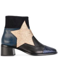 Tommy Hilfiger - Patchwork Star Ankle Boots - Lyst