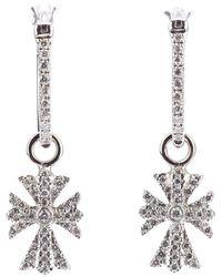 Elise Dray - Diamond Cross Earrings - Lyst