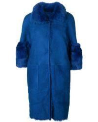 Desa - Fur Trimmed Coat - Lyst
