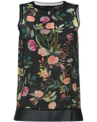 Theory - Floral Print Top - Lyst
