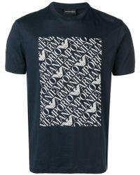 Emporio Armani - T-Shirt mit Logo-Print - Lyst