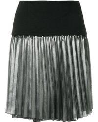 Versace Jeans - Metallic Pleat Skirt - Lyst