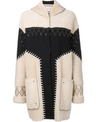 Prabal Gurung - Studded Shearling Coat - Lyst
