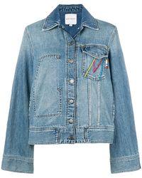 Mira Mikati - Embroidered Retro Denim Jacket - Lyst
