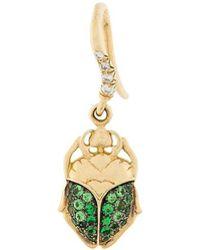Aurelie Bidermann - Mini Scarab Tsavorite And Diamond Earring - Lyst