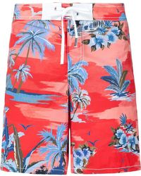 DSquared² - Palm Print Swim Shorts - Lyst