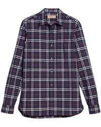 Burberry - Checked Cotton Shirt - Lyst