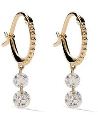 Raphaele Canot - 18kt Yellow Gold Set Free Double Drop Diamond Earrings - Lyst