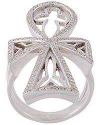 Loree Rodkin - Diamond Maltese Cross Ring - Lyst