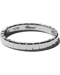 Chopard 18 Kt Witgouden Ice Cube Pure Ring - Metallic