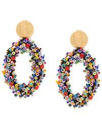 Carolina Herrera - Beaded Hoop Earrings - Lyst