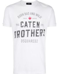 DSquared² - Caten Brothers Print T-shirt - Lyst