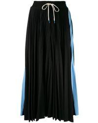 Facetasm - Colour Block Pleated Skirt - Lyst