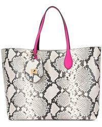 Rochas - Snakeskin-effect Tote Bag - Lyst