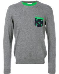 Sun 68 - Contrast Patch Sweater - Lyst