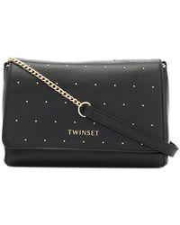 Twin Set - Studded Shoulder Bag - Lyst