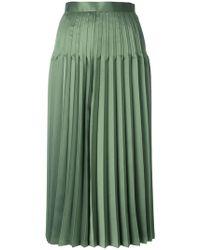 Junya Watanabe - High Waist Pleated Midi Skirt - Lyst