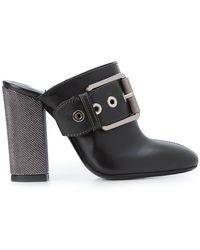 Barbara Bui - Buckle Front Boot Style Mules - Lyst