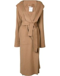 Barbara Casasola - Belted Hooded Coat - Lyst