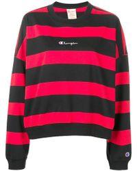 Champion - Striped Sweatshirt - Lyst