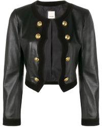 Pinko - Military Leather Jacket - Lyst