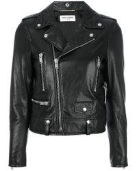 Saint Laurent - Vintage Effect Biker Jacket - Lyst