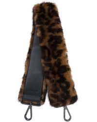Max Mara - Leopard Print Fur Shoulder Strap - Lyst