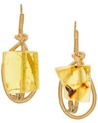 Marni - Gemstone Drop Earrings - Lyst
