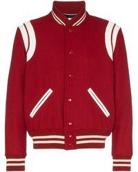 Saint Laurent - Teddy Varsity Jacket - Lyst