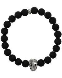 Northskull - Crystal Skull Bracelet - Lyst