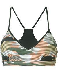 The Upside - Camouflage Print Bra - Lyst