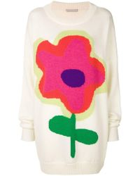 Christopher Kane - Cartoon Flower Knit Jumper - Lyst