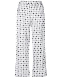Aspesi - Woven Check Cropped Trousers - Lyst