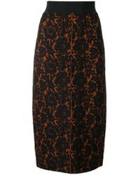 Dorothee Schumacher - Floral Lace Pencil Skirt - Lyst