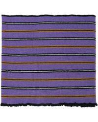 Lanvin Striped polo scarf - Violet
