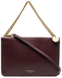 Givenchy Burgundy Cross3 Leather Cross-body Bag