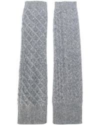Pringle of Scotland - Cable Knit Gloves - Lyst