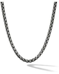 David Yurman - Box Chain Medium Necklace - Lyst