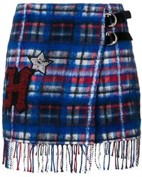 Tommy Hilfiger - Patch Checked Skirt - Lyst