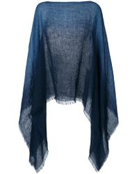 Destin - Gradient Knitted Poncho - Lyst
