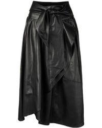 Amen - Waist Knot Wrap Skirt - Lyst