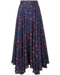 0e93f1eabcb1 Macgraw - Heart Print Pleated Skirt - Lyst