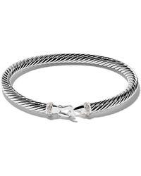 David Yurman - Cable Collectibles Diamond Buckle Bracelet - Lyst