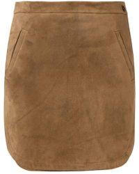 Saint Laurent - High Waisted Skirt - Lyst